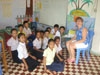 Jenny with the Primary 2 class.