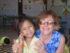 Jenny with one of the sweet little Kindergarten kids, Svi Lin.
