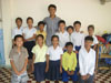 Teacher Thavet with his Primary 2 class (Grades 4-6)