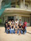 In front of Gems International School. Back row: Phyas, Phin, Sarith, Thavet, Dara, Volake Front row: Ezah, Grace, Jenny, Jan, Lumorng